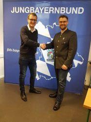 Landesvorsitzender Helmut Freund mit seinem neuen Stellvertreter Andreas Zimmer